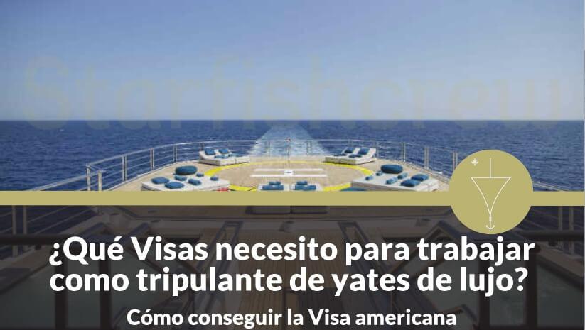 Visas necesarias para trabajar en yates