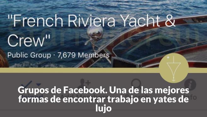grupos de facebook para encontrar trabajo en yates de lujo